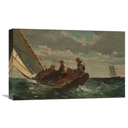Global Gallery Breezing Up By Winslow Homer, 22 X 13-Inch Wall Art
