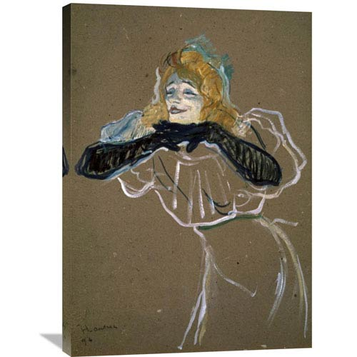Global Gallery La Chanteuse: Yvette Gilbert By Henri Toulouse-Lautrec, 25 X 36-Inch Wall Art