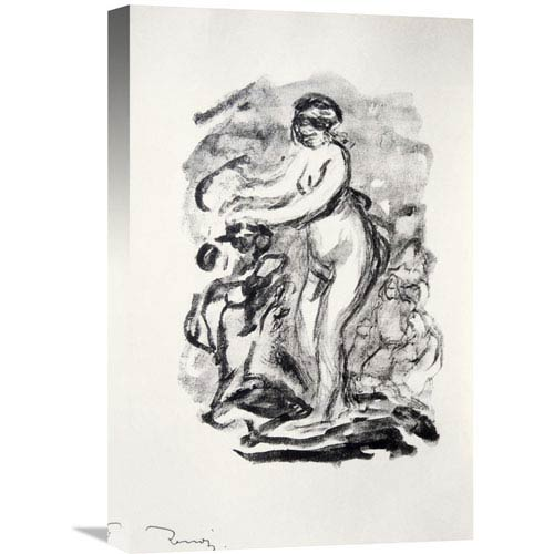 Global Gallery The Bather By Pierre-Auguste Renoir, 14 X 22-Inch Wall Art