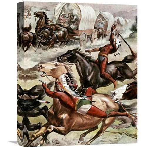 Global Gallery Buffalo Bills Wild West Detail By Unknown, 12 X 16-Inch Wall Art