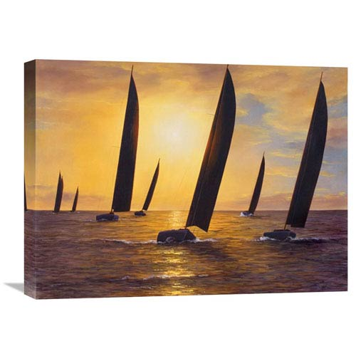 Global Gallery Into The Sunset By Diane Romanello, 24 X 18-Inch Wall Art