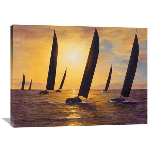 Global Gallery Into The Sunset By Diane Romanello, 40 X 30-Inch Wall Art