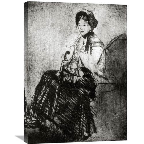 Global Gallery The Umbrella 1879 By Mary Cassatt, 21 X 30-Inch Wall Art