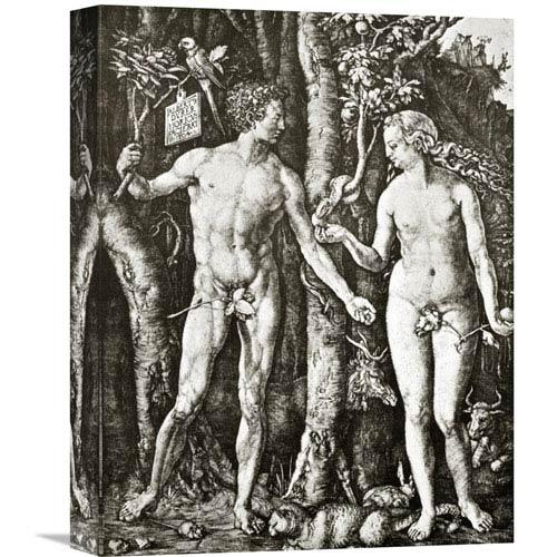Global Gallery Adam And Eve By Albrecht Durer, 12 X 16-Inch Wall Art