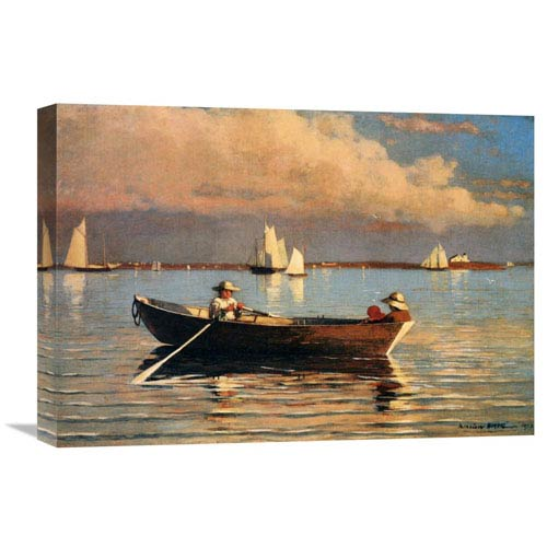 Global Gallery Glouchester Harbor By Winslow Homer, 22 X 15-Inch Wall Art