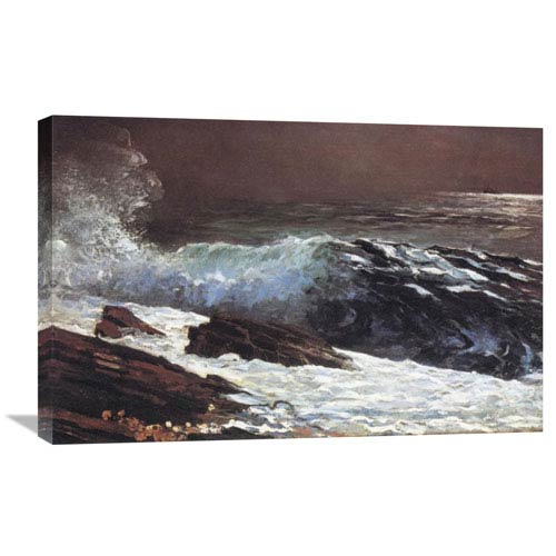 Global Gallery Sunlight On The Coast By Winslow Homer, 30 X 19-Inch Wall Art