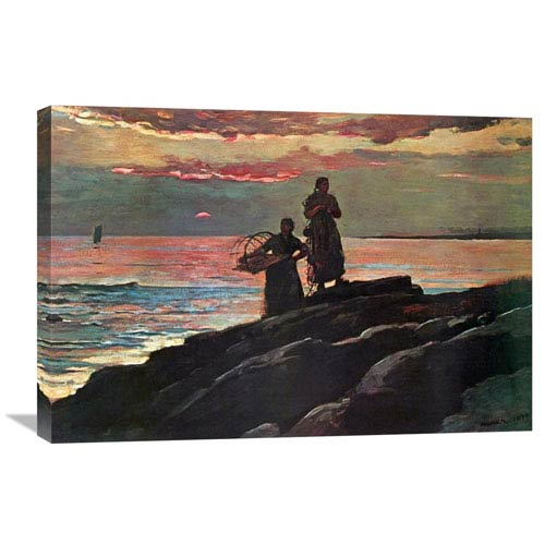 Global Gallery Sunset Saco Bay By Winslow Homer, 30 X 20-Inch Wall Art
