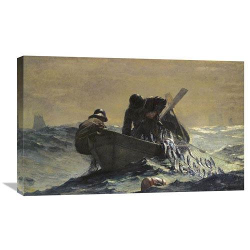 Global Gallery The Herring Net By Winslow Homer, 30 X 18-Inch Wall Art