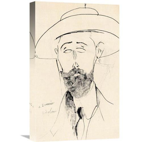 Global Gallery Dermee By Amedeo Modigliani, 13 X 22-Inch Wall Art