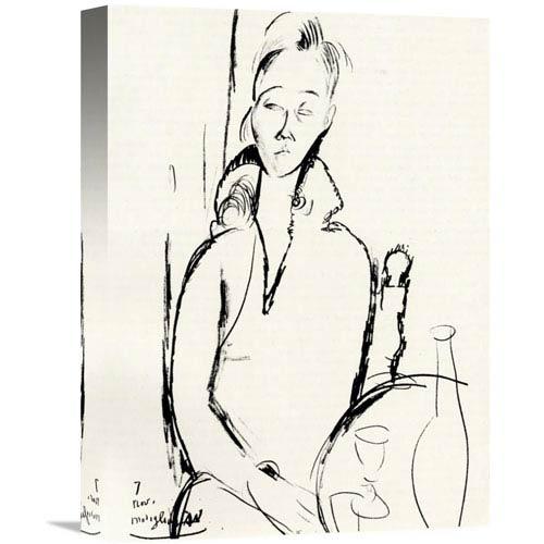 Global Gallery Lunia Czechowska By Amedeo Modigliani, 11 X 16-Inch Wall Art