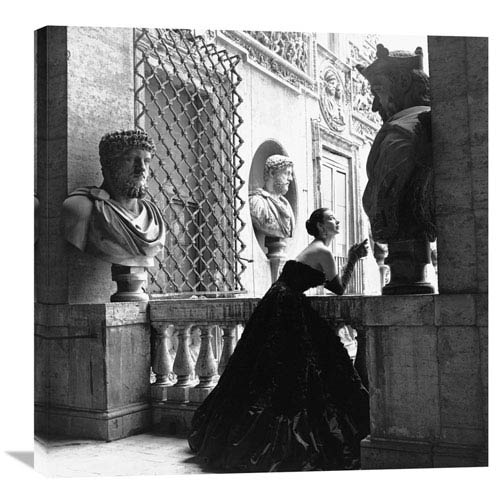 Global Gallery Evening Dress, Roma, 1952 By Genevieve Naylor, 30 X 30-Inch Wall Art