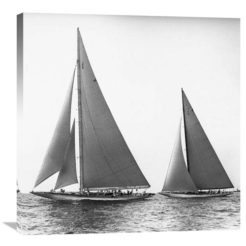 Global Gallery Sailboats In The Americas Cup, 1934 By Edwin Levick, 30 X 30-Inch Wall Art