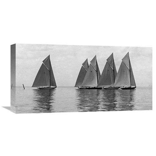 Global Gallery The Istalena Greyline In A Race, 1921 By Edwin Levick, 24 X 12-Inch Wall Art