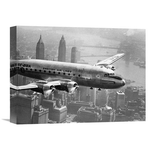 Global Gallery Aircraft Flying Over City, 1946 By Unknown, 16 X 12-Inch Wall Art
