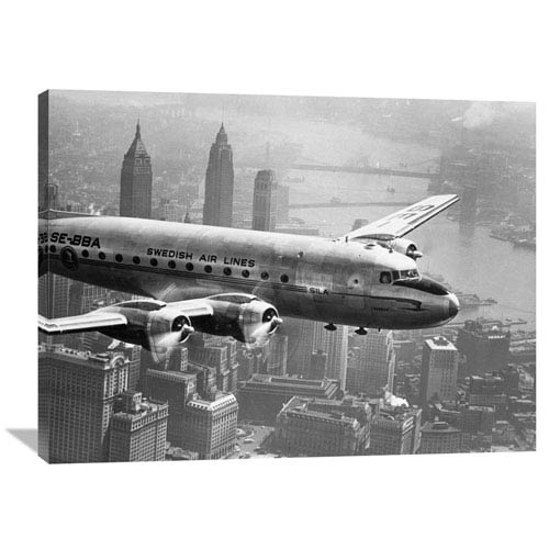 Global Gallery Aircraft Flying Over City, 1946 By Unknown, 40 X 30-Inch Wall Art