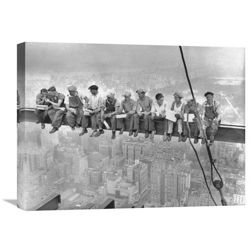 Global Gallery New York Construction Workers Lunching On A Crossbeam, 1932 By Charles C. Ebbets, 24 X 18-Inch Wall Art