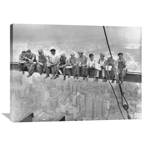 Global Gallery New York Construction Workers Lunching On A Crossbeam, 1932 By Charles C. Ebbets, 40 X 30-Inch Wall Art