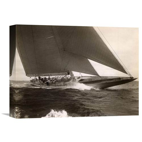Global Gallery J Class Sailboat, 1934 By Edwin Levick, 16 X 12-Inch Wall Art