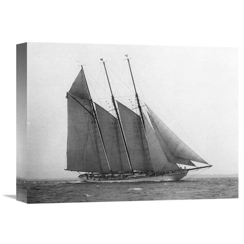 Global Gallery The Schooner Karina At Sail, 1919 By Edwin Levick, 16 X 12-Inch Wall Art