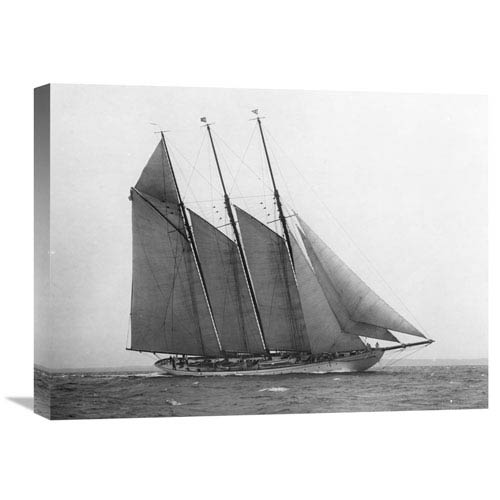 Global Gallery The Schooner Karina At Sail, 1919 By Edwin Levick, 24 X 18-Inch Wall Art