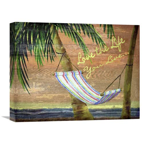 Global Gallery Swaying On The Beach By Karen J. Williams, 20 X 16-Inch Wall Art