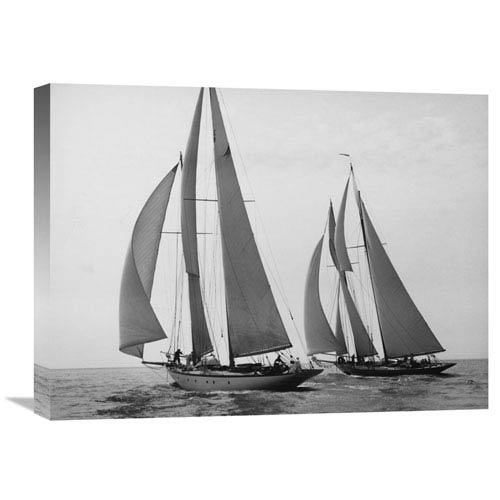 Global Gallery Sailboats Race During Yacht Club Cruise By Edwin Levick, 24 X 18-Inch Wall Art