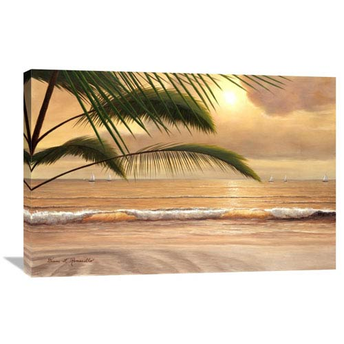 Global Gallery Sunset Surf By Diane Romanello, 36 X 24-Inch Wall Art