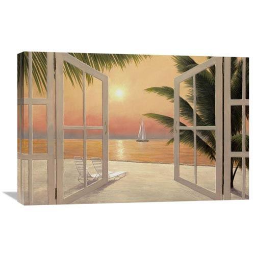 Global Gallery Beach Windows By Diane Romanello, 30 X 20-Inch Wall Art