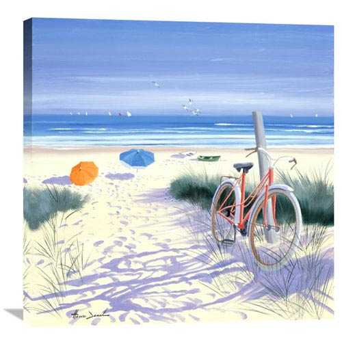 Global Gallery Le Velo Rouge By Henri Deuil, 30 X 30-Inch Wall Art