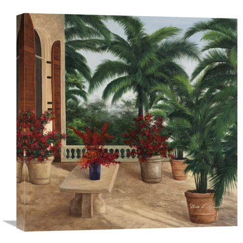 Global Gallery Tuscan Patio By Diane Romanello, 24 X 24-Inch Wall Art