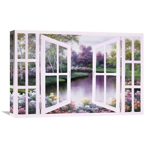Global Gallery Springtime Symphony Through Door By Diane Romanello, 24 X 16-Inch Wall Art
