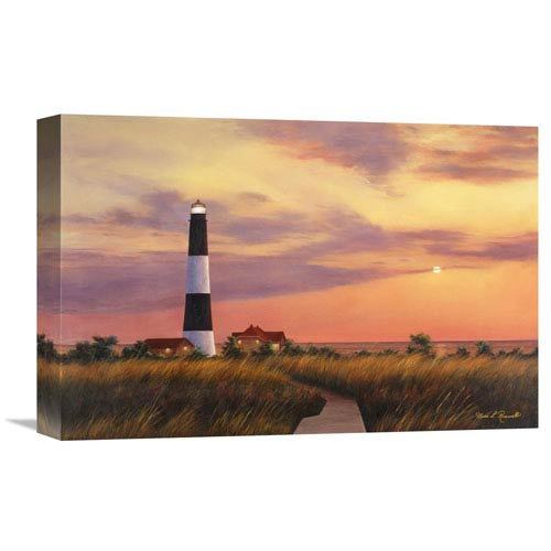 Global Gallery Fire Island Lighthouse By Diane Romanello, 18 X 12-Inch Wall Art