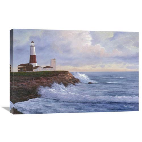 Global Gallery Montauk Lighthouse By Diane Romanello, 30 X 20-Inch Wall Art
