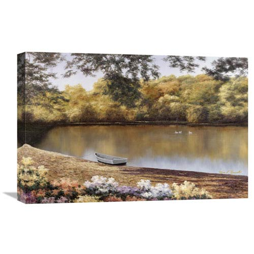Global Gallery Golden Pond By Diane Romanello, 24 X 16-Inch Wall Art