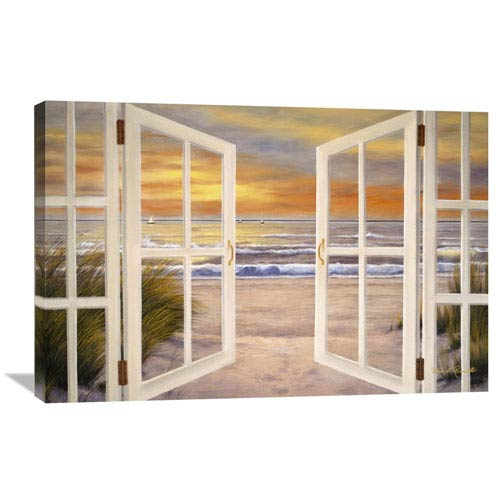 Global Gallery Sunset Beach By Diane Romanello, 36 X 24-Inch Wall Art