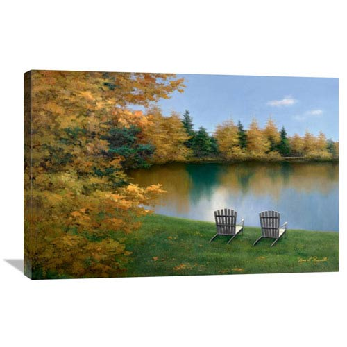 Global Gallery Forever Autumn By Diane Romanello, 36 X 24-Inch Wall Art