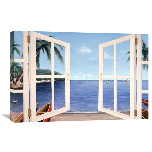 Global Gallery Day Dreams Through Window By Diane Romanello, 30 X 20-Inch Wall Art