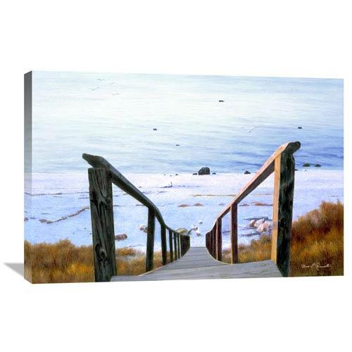 Global Gallery Sound Beach By Diane Romanello, 36 X 24-Inch Wall Art