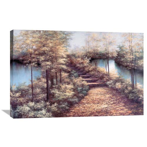 Global Gallery Autumn Leaves By Diane Romanello, 36 X 24-Inch Wall Art