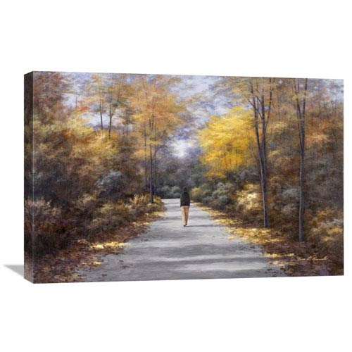 Global Gallery Quiet Walk By Diane Romanello, 30 X 20-Inch Wall Art