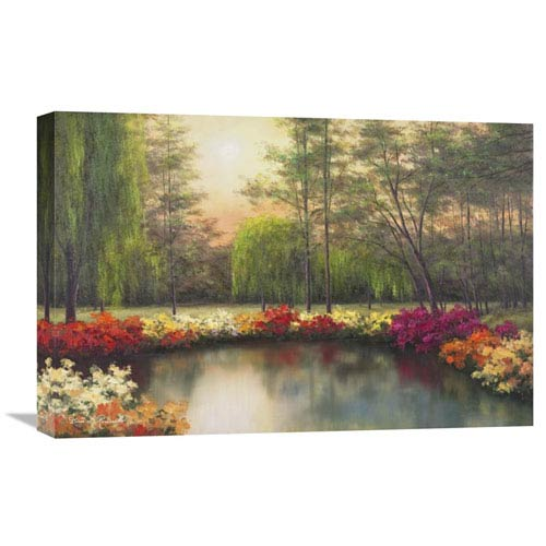 Global Gallery Autumn Sunset By Diane Romanello, 24 X 16-Inch Wall Art