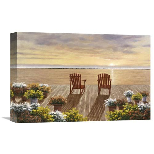 Global Gallery Evening Deck View By Diane Romanello, 18 X 12-Inch Wall Art