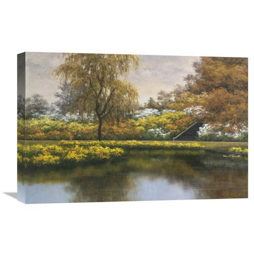 Global Gallery Floral Gardens By Diane Romanello, 24 X 16-Inch Wall Art