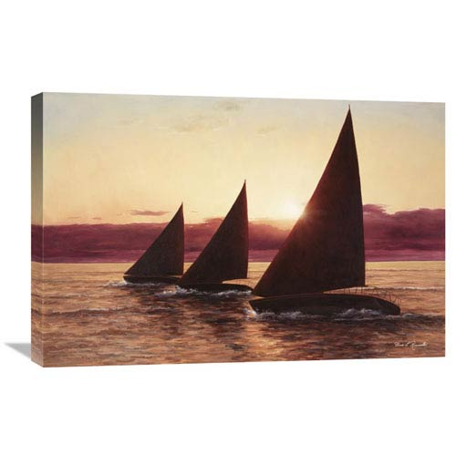 Global Gallery Evening Sail By Diane Romanello, 30 X 20-Inch Wall Art