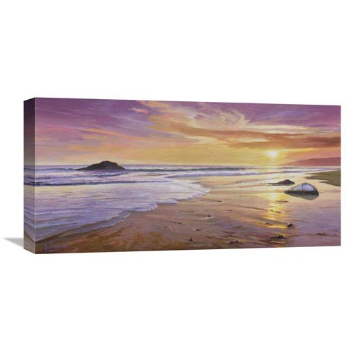 Global Gallery Tramonto Sul Mare By Adriano Galasso, 24 X 12-Inch Wall Art