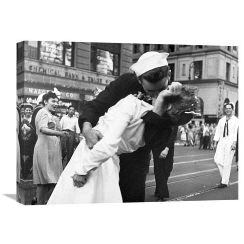 Global Gallery Kissing The War Goodbye In Times Square, 1945, I By Victor Jorgensen, 24 X 18-Inch Wall Art