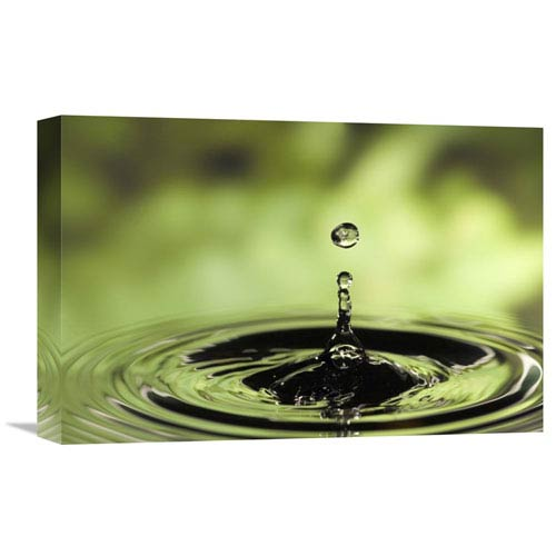 Global Gallery Ripples Radiating Out From Drop Of Water Splashing Into Calm Pool By Michael Durham, 12 X 18-Inch Wall Art