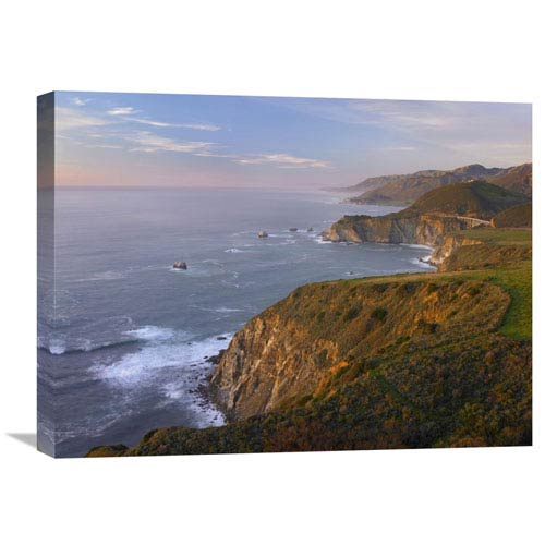 Global Gallery Bixby Bridge, Big Sur, California By Tim Fitzharris, 18 X 24-Inch Wall Art