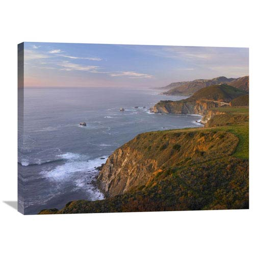 Global Gallery Bixby Bridge, Big Sur, California By Tim Fitzharris, 24 X 32-Inch Wall Art