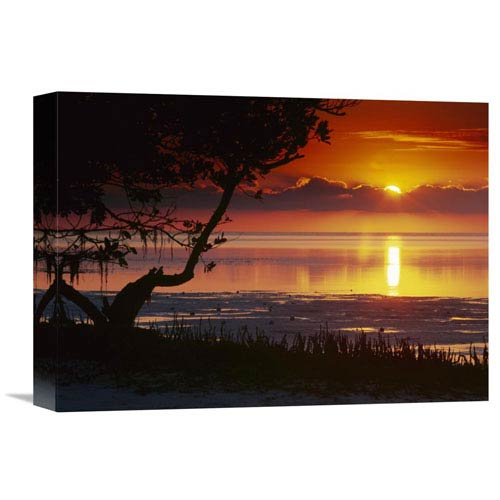 Global Gallery Sunset Over Annes Beach, Florida By Tim Fitzharris, 12 X 16-Inch Wall Art